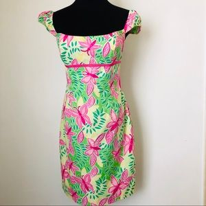 Lily Pulitzer Dress butterfly flower print size 4